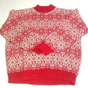 American Pride Christmas Sweater Snowflake 1980s